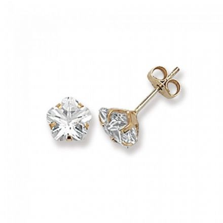 Just Gold Earrings -9Ct Gold Cz Studs, ES301